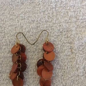 Orange dangle earrings